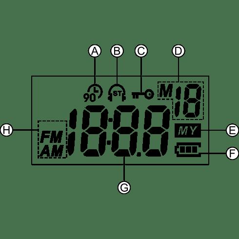 DT-250 디지털 휴대용 라디오 LCD