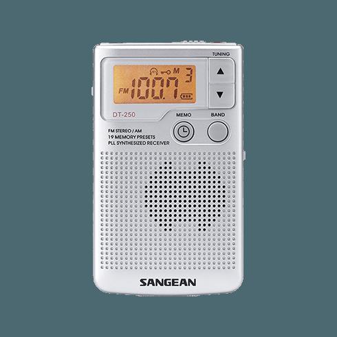 DT-250 디지털 휴대용 라디오 정면