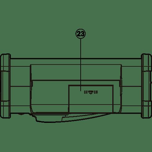 MMR-88 자가발전 디지털라디오 하면 투시도