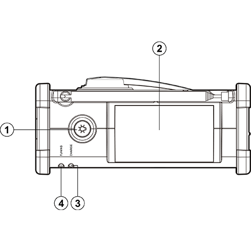 MMR-88 디지털 자가발전 라디오 상면 투시도