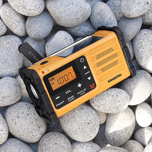 자갈밭의 MMR-88 디지털 자가발전 라디오