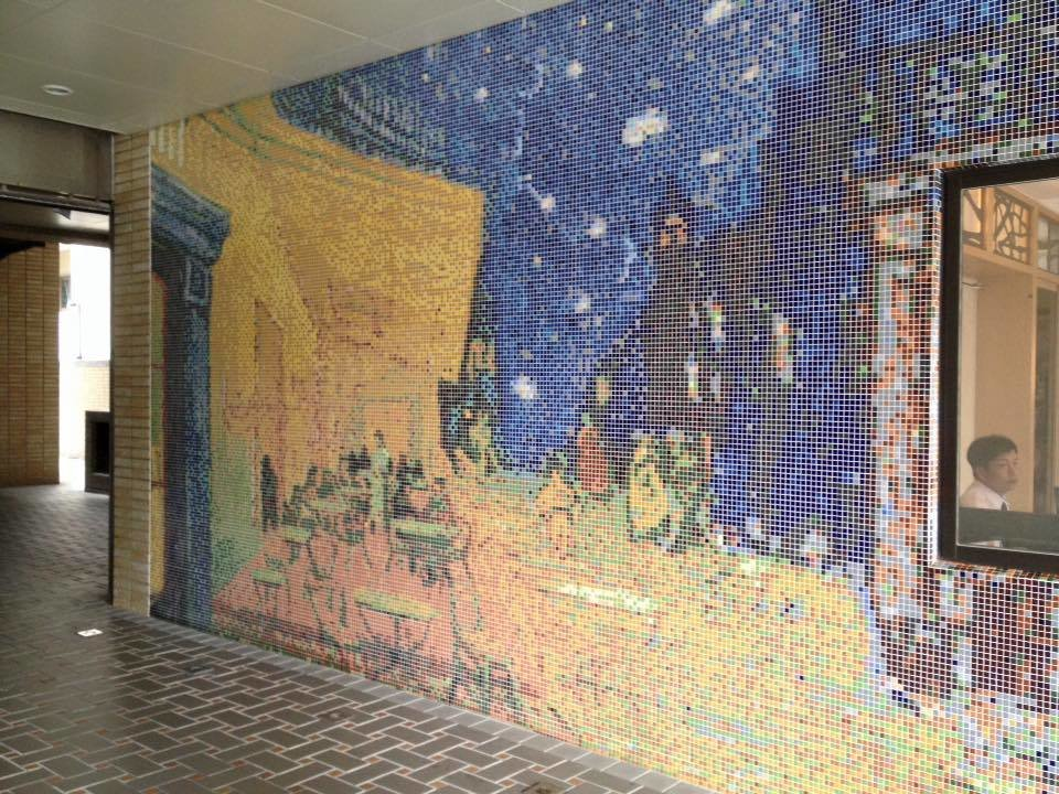 대만의 벽은 예술작품으로 활용되고 있습니다.