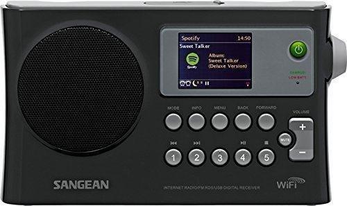 WFR-28 Spotify유료 회원이면 이 모델로 스마트폰에서 출력을 공유할 수 있다. AM라디오는 지원하지 않으며 FM만 지원한다.