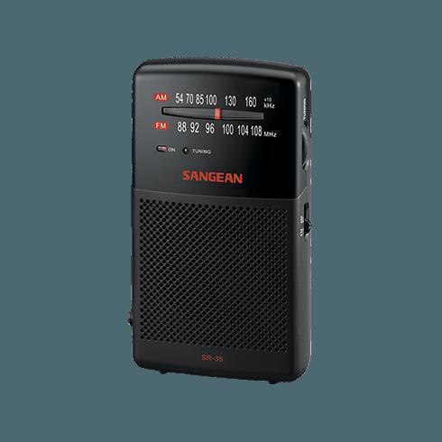 SR-35 아날로그 휴대용 라디오 측면