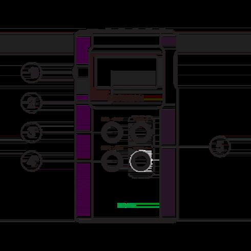 DT-120 휴대용 디지털 라디오 정면