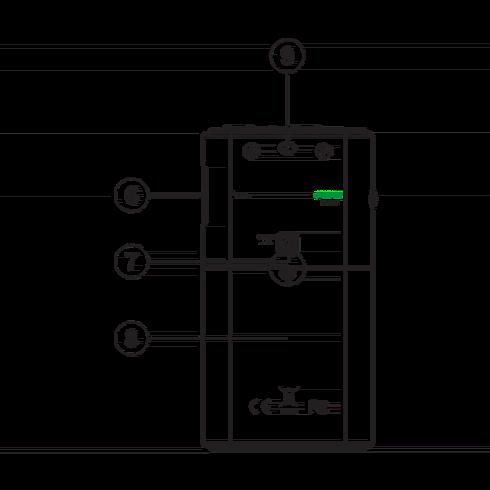 DT-120 휴대용 디지털 라디오 후면