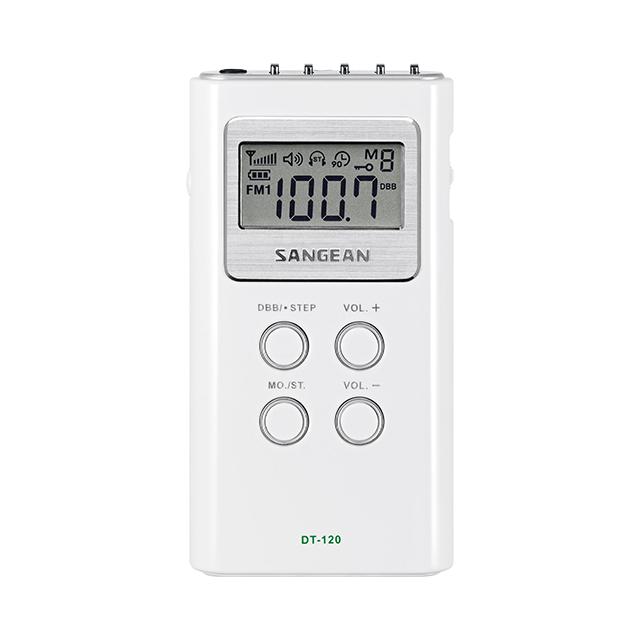 DT-120 디지털 휴대용 라디오 정면