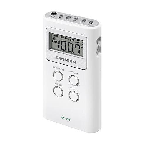 DT-120 디지털 휴대용 라디오 측면