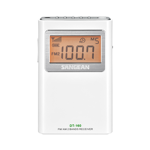 DT-160 휴대용 디지털 라디오 정면
