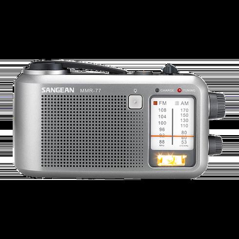 MMR-77 아날로그 자가발전 라디오 정면