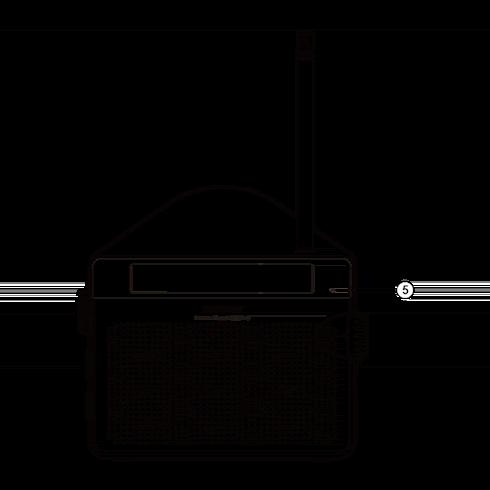 PR-D6 아날로그 휴대용 라디오 정면