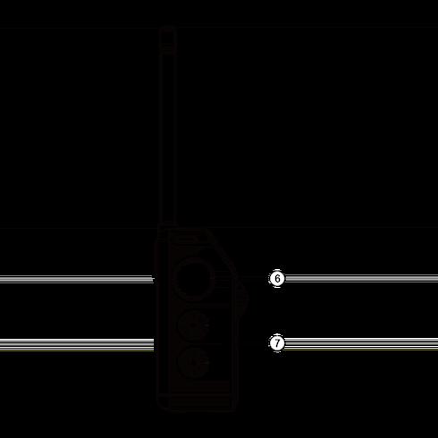 PR-D6 아날로그 휴대용 라디오 우측면