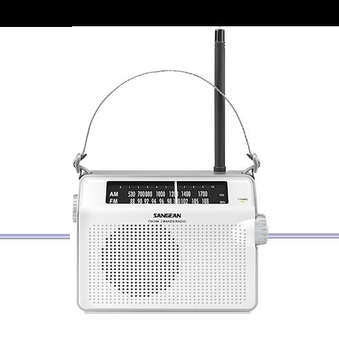 PR-D6 휴대용 라디오 정면