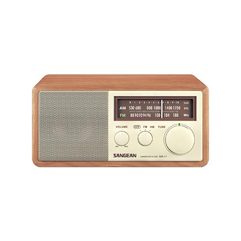 WR-11 아날로그 탁상용 라디오 정면