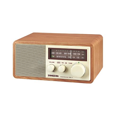 WR-11 아날로그 탁상용 라디오 측면