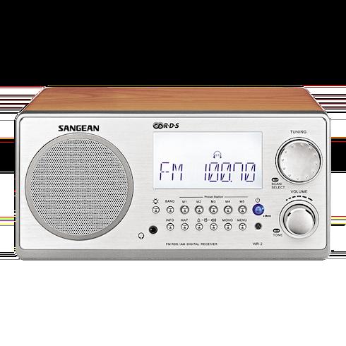 WR-2 디지털 탁상용 라디오 정면
