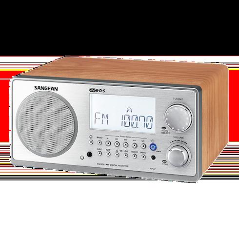 WR-2 디지털 탁상용 라디오 측면