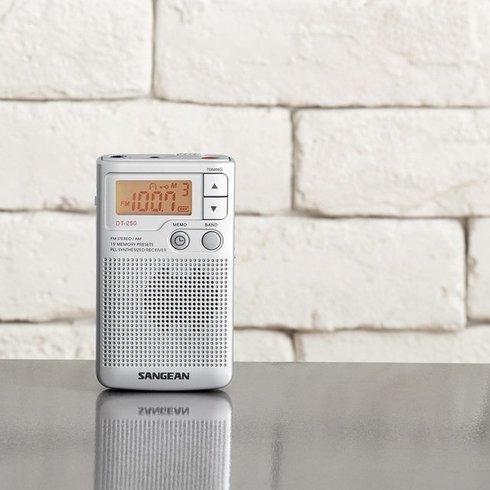 Sangean-DT-250-Pocket-Radio-Table