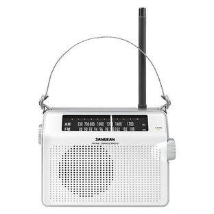 Sangean-PR-D6-Tabletop-Radio-White-Front