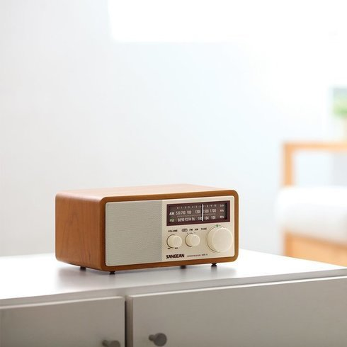 Sangean-WR-11-TableTop-Radio-Bed