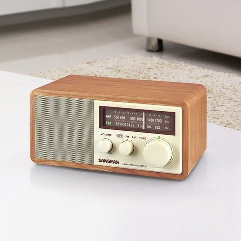 Sangean-WR-11-TableTop-Radio-Walnut-LivingRoom