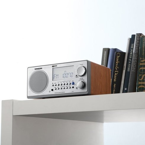 Sangean-WR-2-TableTop-Radio-Bookshelf