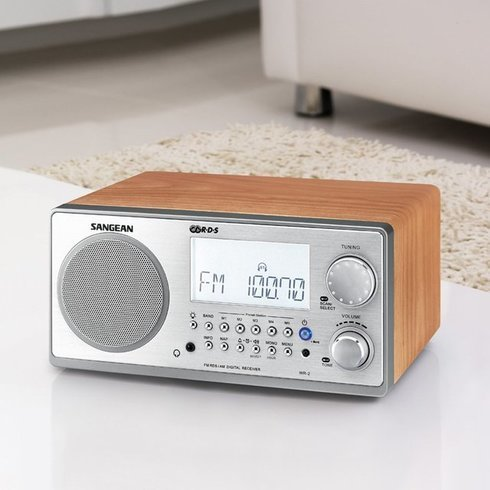 Sangean-WR-2-TableTop-Radio-LivingRoom
